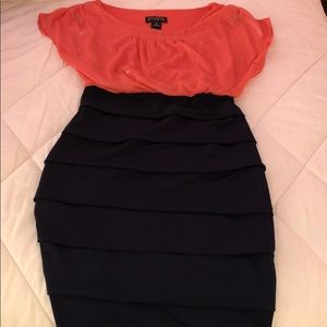 Beautiful corral and navy dress